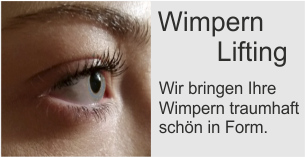 Wimpern Lifting